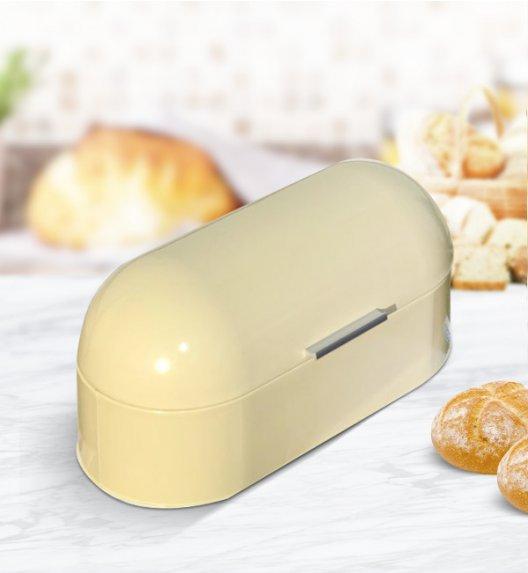 ODELO Kremowy chlebak emaliowany 21 x 44 cm / Stal nierdzewna / OD1195B
