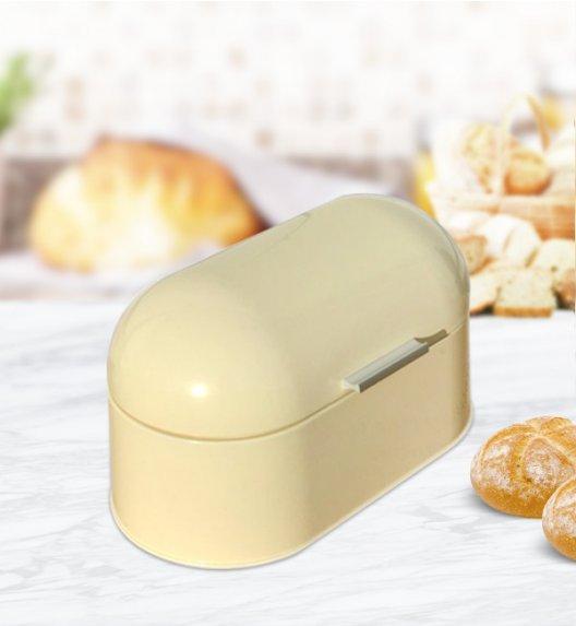 ODELO Kremowy chlebak emaliowany 18 x 34 cm / Stal nierdzewna / OD1196Y