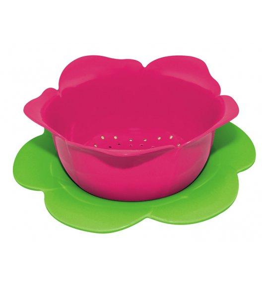 ZAK! DESIGNS Durszlak z podstawką, różowo-zielony, 16,5 cm /Btrzy