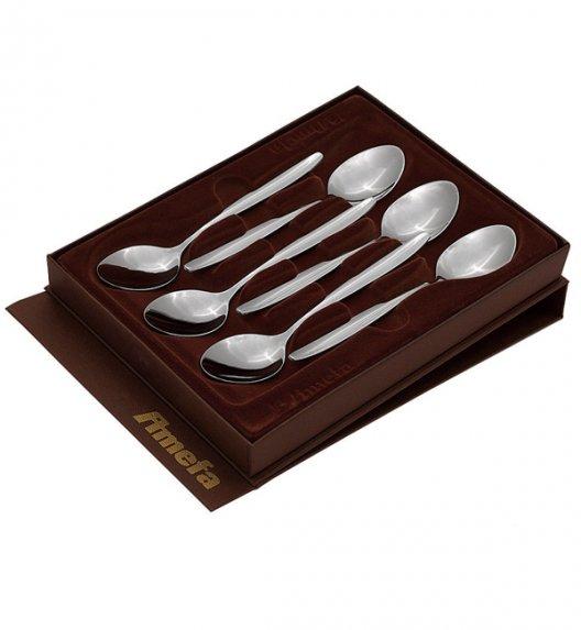 WYPRZEDAŻ! AMEFA FLORENCE Komplet łyżeczek do herbaty pudełko 6 el / Wieczysta gwarancja / połysk