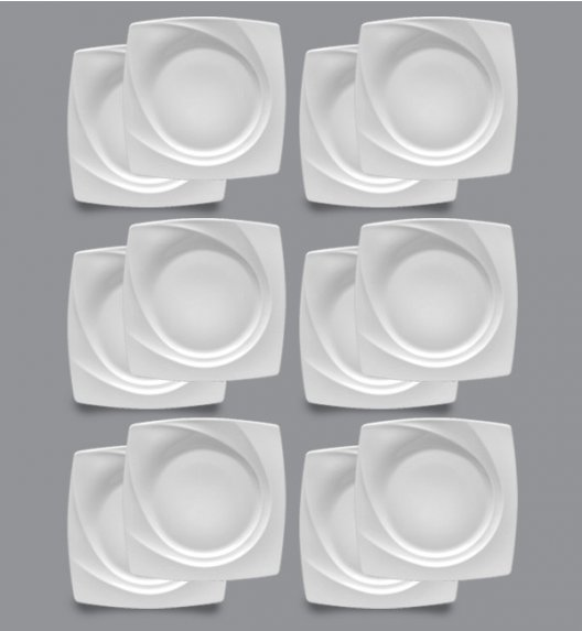 LUBIANA CELEBRATION Komplet Talerze deserowe 23 cm / 12 el / 12 os / porcelana