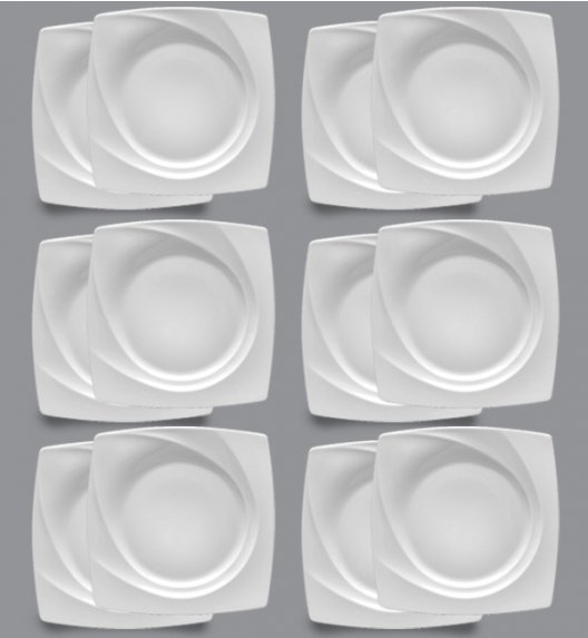 LUBIANA CELEBRATION Komplet Talerze obiadowe 27,5 cm / 12 el / 12 os / porcelana