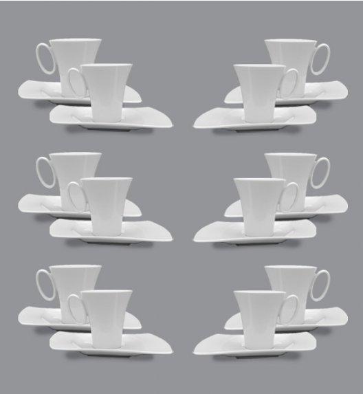 PROMOCJA! LUBIANA WING Komplet Filiżanka 200 ml + spodek 20,5 cm / 24 el / 12 os / porcelana