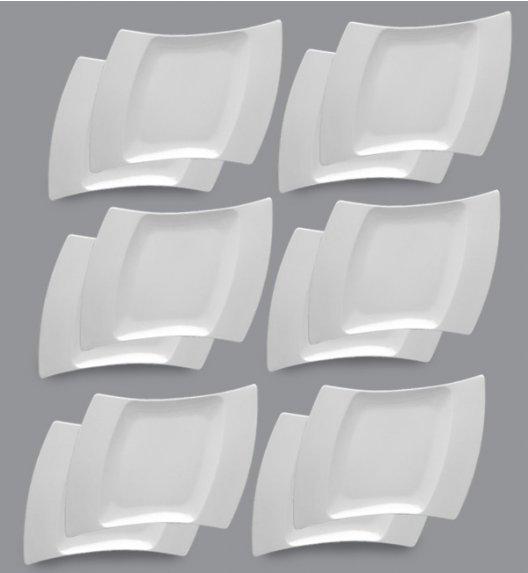 PROMOCJA! LUBIANA WING Komplet Talerze deserowe 25 cm / 12 el / 12 os / porcelana