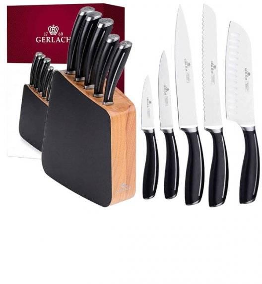 GERLACH LOFT Komplet 5 noży w bloku /  6 el / antypoślizgowa rękojeść