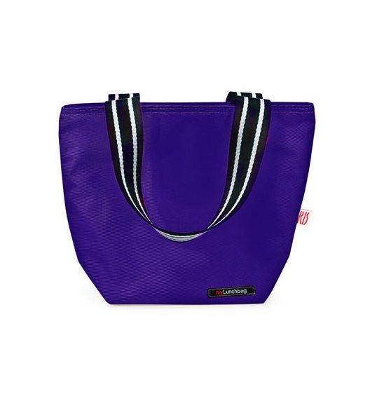 Iris - Lunchbag TOTE, niebieski. Stylowa torba na lunch z folią termoizolacyjną / Btrzy