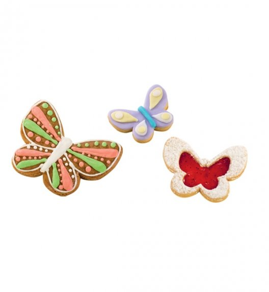 TESCOMA DELICIA Dwustronne foremki do wykrawania motylki / 4 rozmiary 630871.00