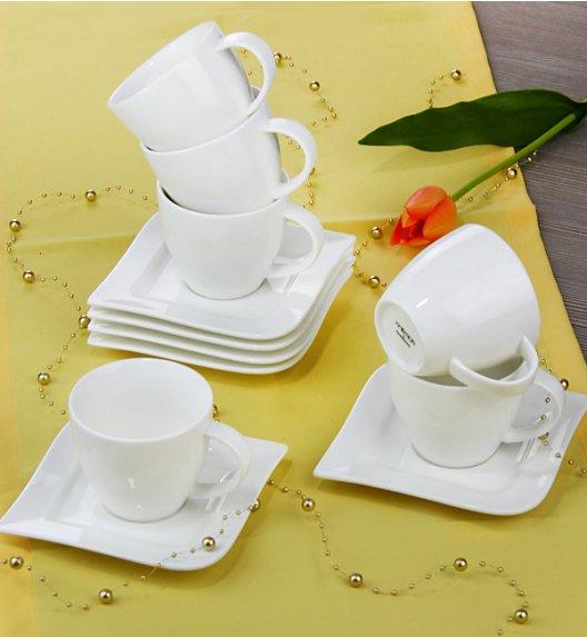 AMBITION FALA Serwis kawowy 12 elementów dla 6 osób / Porcelana