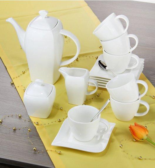 AMBITION FALA Serwis kawowy 17 elementów dla 6 osób / Porcelana / 61160