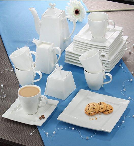 AMBITION KUBIKO Komplet kawowy 21 elementy dla 6 osób / Porcelana + GRATIS 49 ZŁ / 62367