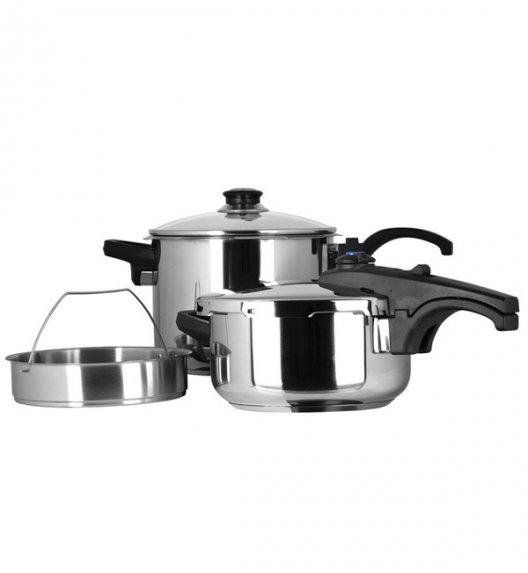 AMBITION MARCONI Komplet szybkowarów 4 l + 6 l z sitkiem do gotowania na parze / 31007