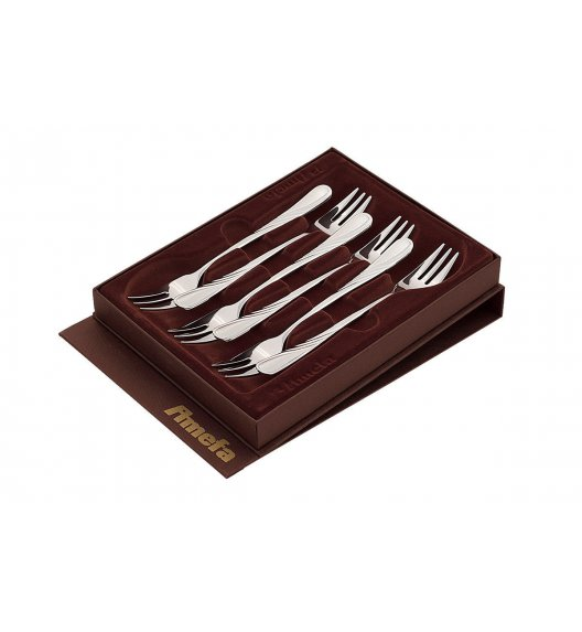 AMEFA HELMA Komplet 6 widelczyków do ciasta w pudełku (połysk) / wieczysta gwarancja