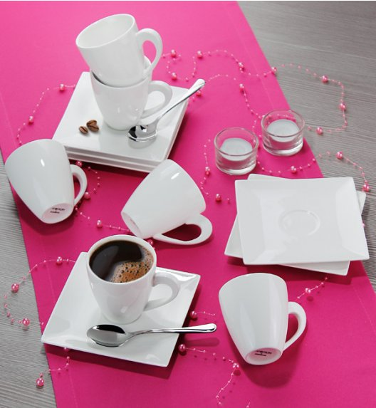 AMBITION PORTO Serwis kawowy 12 elementów dla 6 osób / Porcelana / 61187
