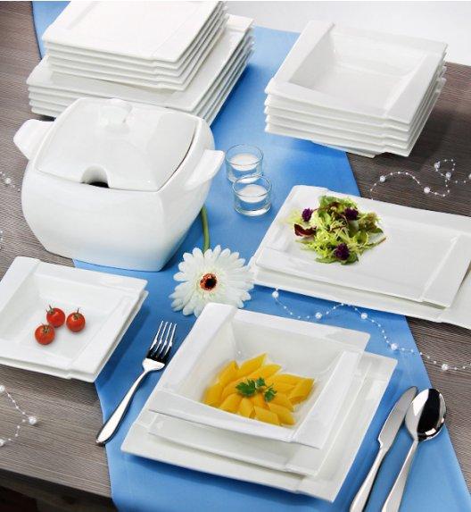AMBITION KUBIKO Serwis obiadowy-kawowy 100 elementów dla 12 osób / Porcelana + MIARKI