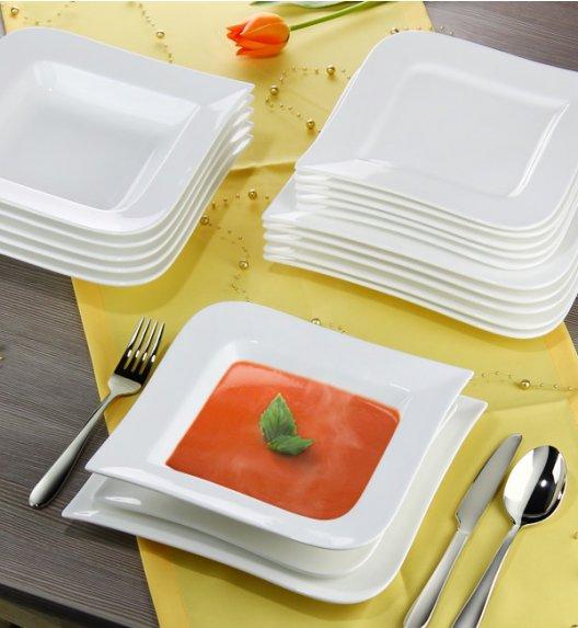 AMBITION FALA Serwis obiadowo-kawowy 60 elementów dla 12 osób / Porcelana + GRATIS 49 ZŁ / 62370/61244 x2