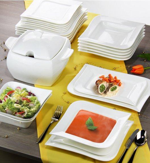 AMBITION FALA Serwis obiadowo-kawowy 100 elementów dla 12 osób / Porcelana + GRATIS 49 ZŁ / 12/112F
