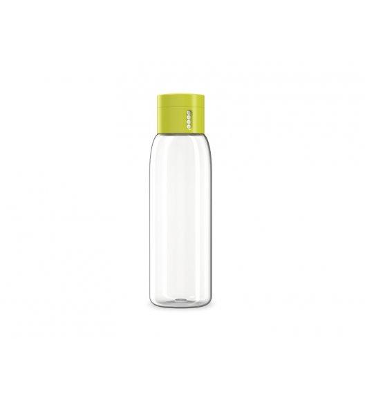 JOSEPH JOSEPH DOT Butelka na wodę zielona zakrętka 600 ml / wskaźnik ilości spożycia