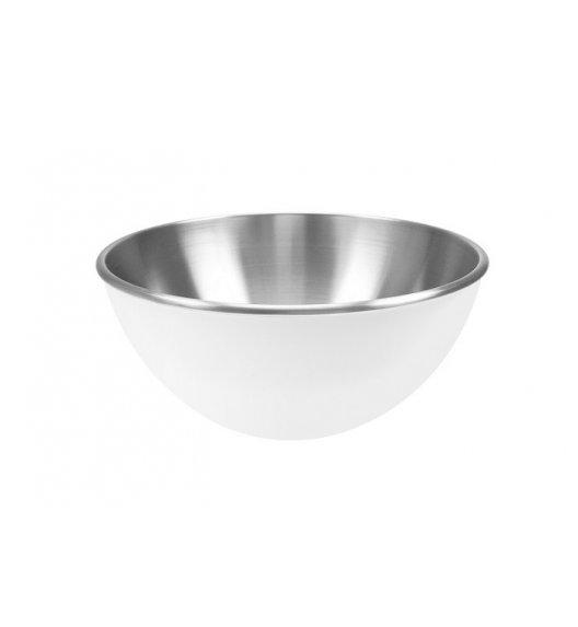 ZAK! DESIGNS Dwukolorowa miska stalowa, biała, 25 cm / Btrzy