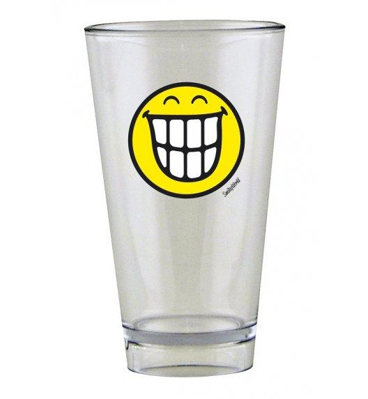 ZAK! DESIGNS Szklanka Smiley, ze znaczkiem TEETH na zimne napoje, 300 ml / Btrzy