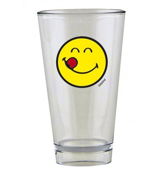 ZAK! DESIGNS Szklanka Smiley, ze znaczkiem YUMMY na zimne napoje, 300 ml / Btrzy