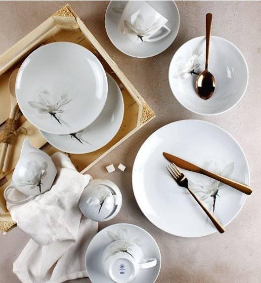 LUBIANA MAGNOLIA 6474 Serwis obiadowo - kawowy 62 elementy / 12 osób / porcelana