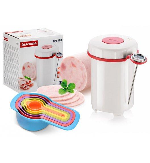 TESCOMA PRESTO Szynkowar z termometrem + kolorowe miarki kuchenne VIDEO