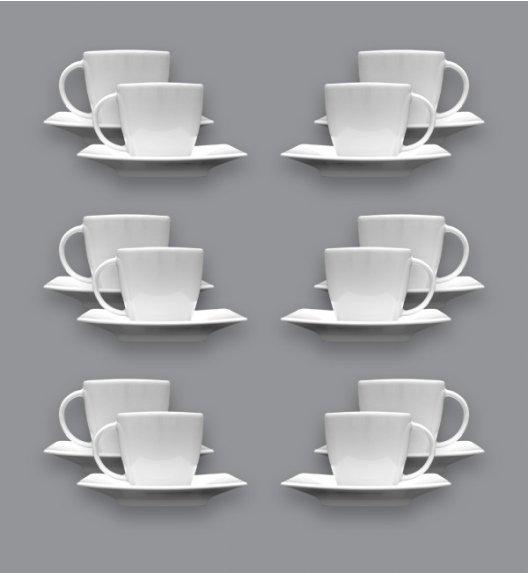 LUBIANA VICTORIA Komplet 12 Filiżanek do espresso 90 ml + spodki / 24 el / 12 os / porcelana