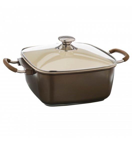 KonigHOFFER CASHMERE Garnek ceramiczny / brytfanna 6,6 L / brązowa