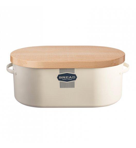 TYPHOON Stalowy chlebak z drewnianą deską do krojenia BELMONT / Btrzy