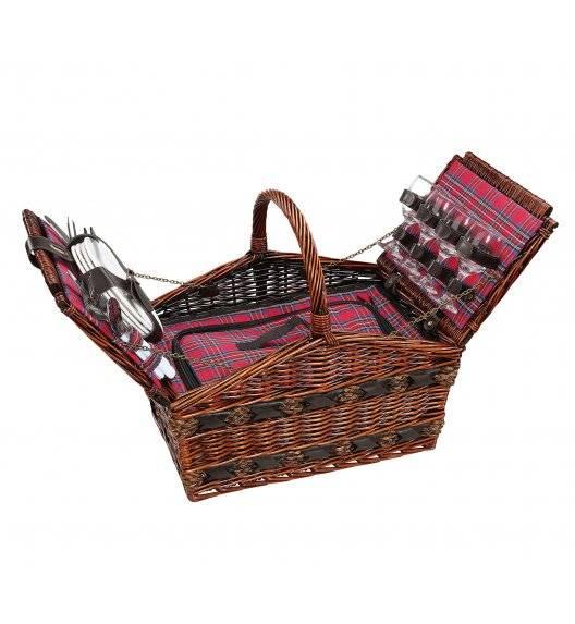 CILIO COMO Kosz piknikowy dla 4 osób z wyposażeniem / wiklina