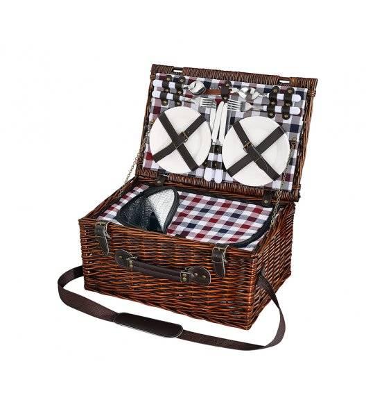 CILIO VARESE Kosz piknikowy dla 4 osób z wyposażeniem / wiklina