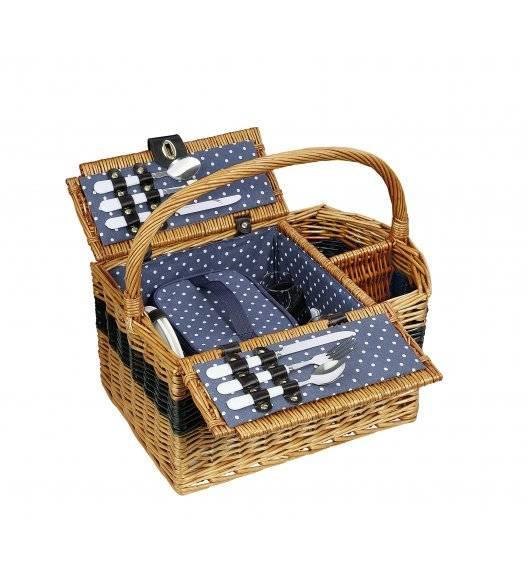 CILIO CERNOBBIO Kosz piknikowy dla 2 osób z wyposażeniem / wiklina