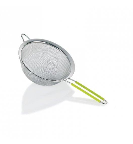 KELA Sitko stalowe COLINO zielony uchwyt, ⌀ 20 cm / FreeForm