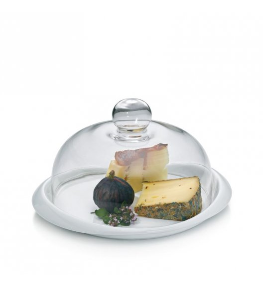KELA Talerz do serwowania serów PETIT z pokrywką szklaną 27 x 22 cm / FreeForm