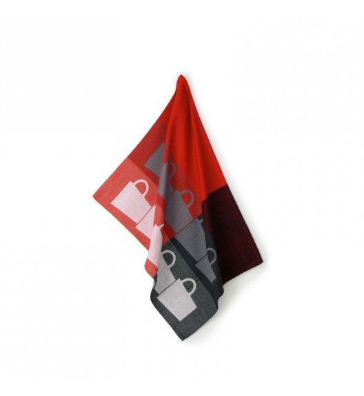 KELA TABEA CUPS Ściereczka kuchenna 70 x 50 cm / czerwono-czarna