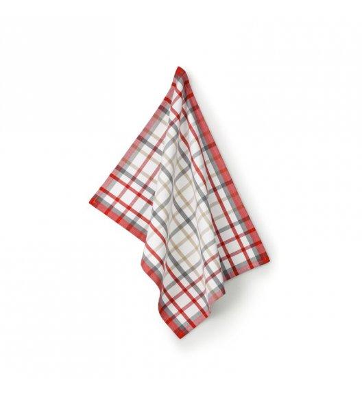 KELA TABEA CUPS Ściereczka kuchenna 70 x 50 cm / biała kratka