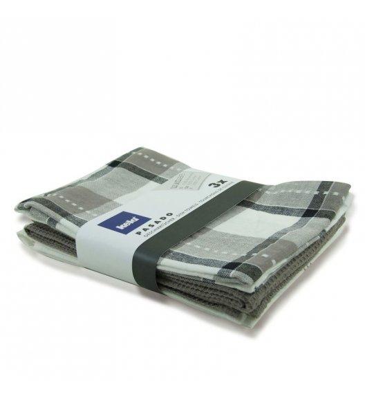 KELA PASADO Zestaw 3 ściereczek bawełnianych 65 x 45 cm / szare