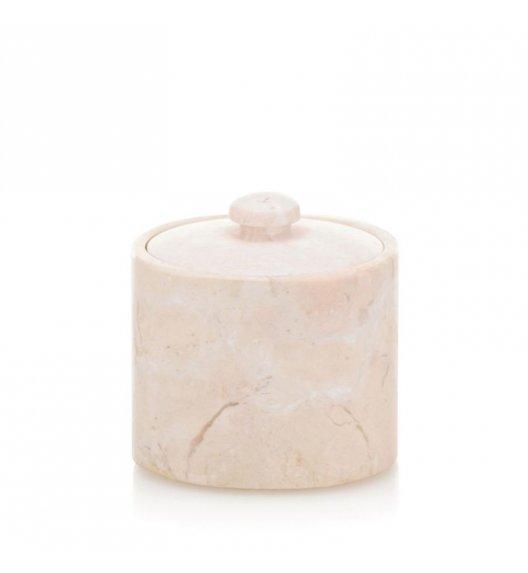 KELA MARBLE Pojemnik na płatki kosmetyczne ⌀ 9 cm / marmur karraryjski