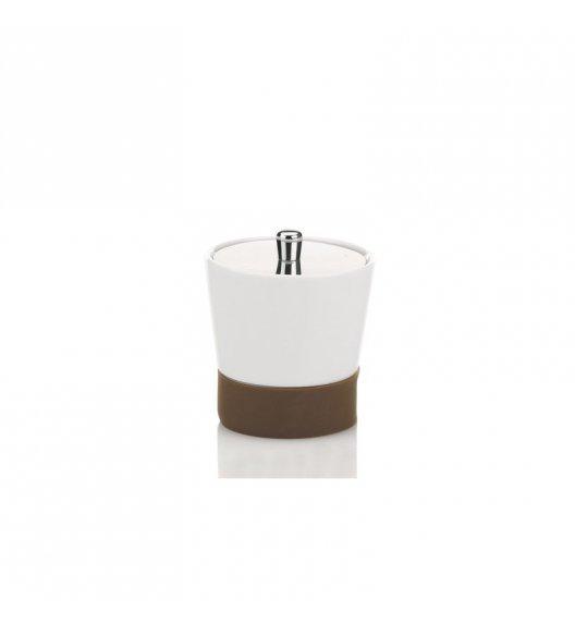 KELA Ceramiczny pojemnik na płatki kosmetyczne PIANO brązowa podstawka / FreeForm