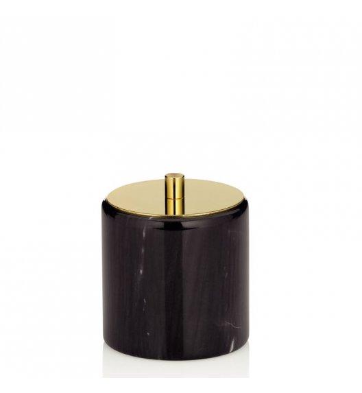 KELA LIRON Pojemnik na płatki kosmetyczne ⌀ 9,5 cm / marmur