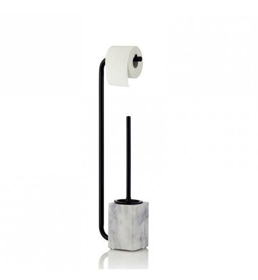 KELA VARDA Zestaw toaletowy z drążkiem na papier toaletowy / marmur