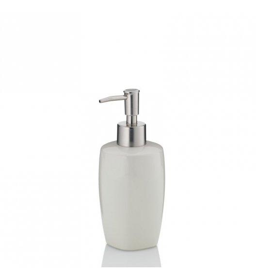 KELA LANDORA Ceramiczny dozownik na mydło w płynie 400 ml / kremowy