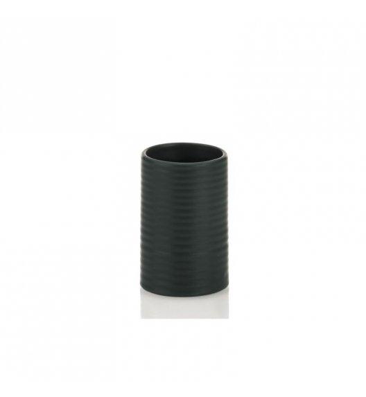 KELA Ceramiczny kubek łazienkowy GROOVE czarny / FreeForm