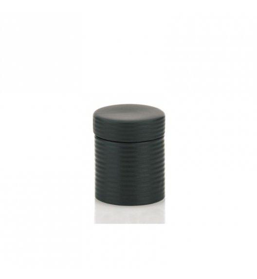 KELA Ceramiczny pojemnik na waciki GROOVE czarny / FreeForm