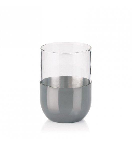 KELA Szklany kubek łazienkowy ze stalową podstawką VELVET / FreeForm