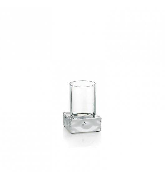 KELA VERBERA Kubek łazienkowy z podstawką / szkło + tworzywo
