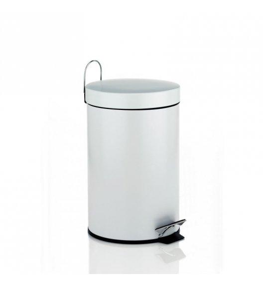 KELA Kosz na śmieci otwierany pedałem LINDA biały 3,0 l / FreeForm
