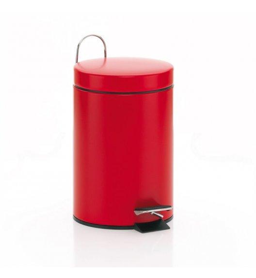 KELA Kosz na śmieci otwierany pedałem BERRY czerwony, matowy 3,0 l / FreeForm