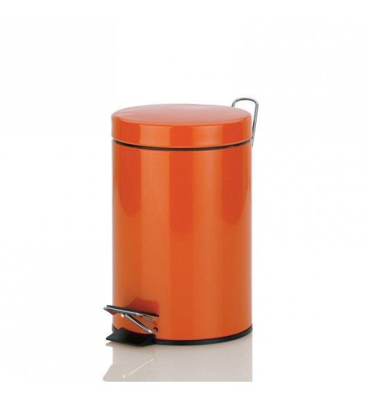 KELA Kosz na śmieci otwierany pedałem SINA pomarańczowy 3,0 l / FreeForm