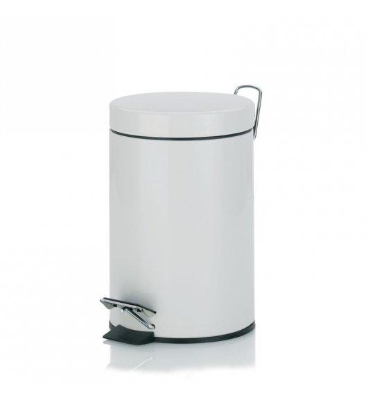KELA Kosz na śmieci otwierany pedałem ALASKA biały 3,0 l / FreeForm